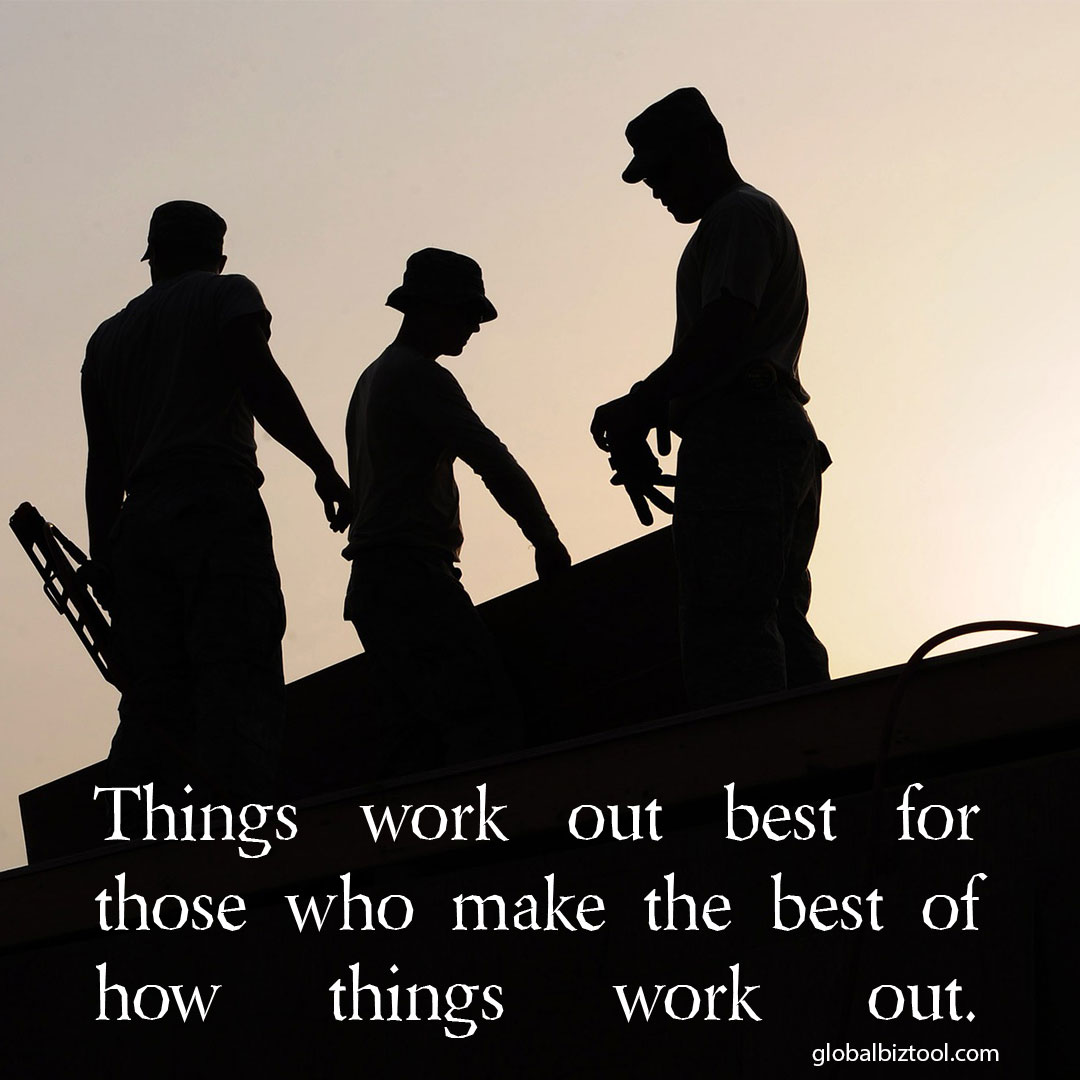 Things Work Out Best For…